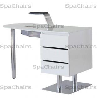 Маникюрный стол Star Nail Premium White с вытяжкой Without Handrest С