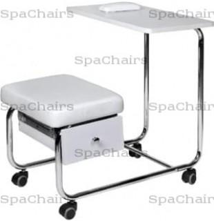 Маникюрный столик совмещенный со стулом без вытяжки С